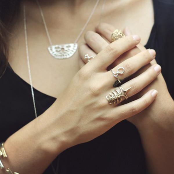 Odette NY rib ring bronze
