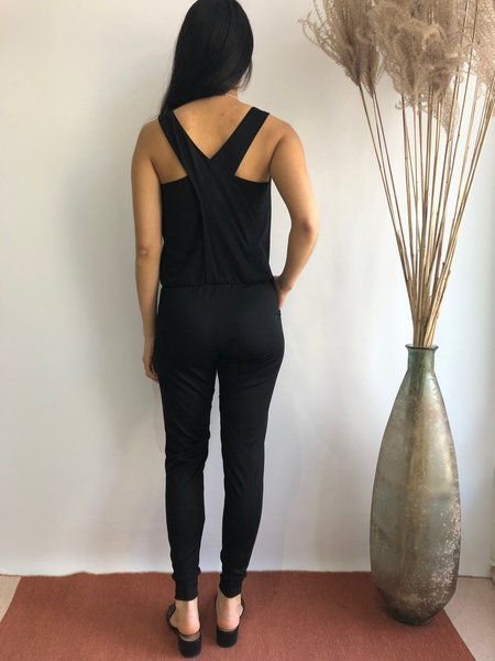 JOSIANE PERRON crossback jumpsuit - NOIR