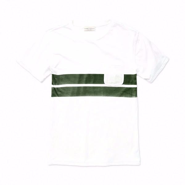 Men's Almond Blanket Stripe Tee
