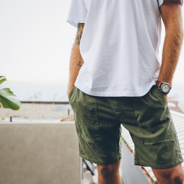 Men's Almond x Woolrich Trekker Twill Shorts