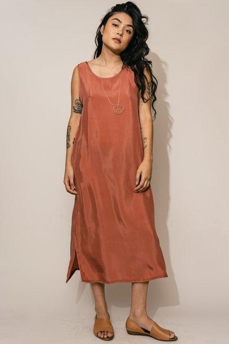 Altar Houseline Cupro Shift Dress - Dusty Rose