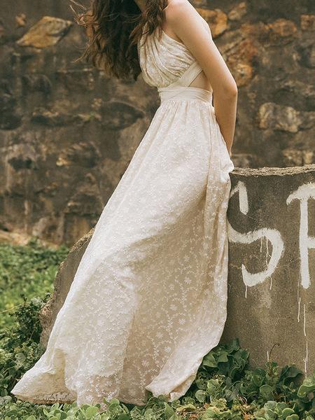 Guka Hollub Goddes Dress - Ivory