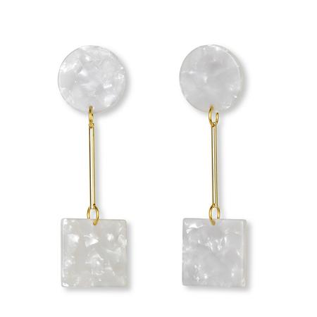 iuo Quadrate Earrings - moon