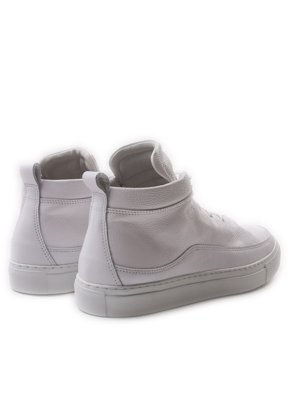 Men's Public School Braeburn Hi Top Pebbled Leather White