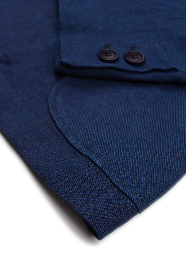 Men's Blue Blue Japan Linen Twill 2 Button Jacket