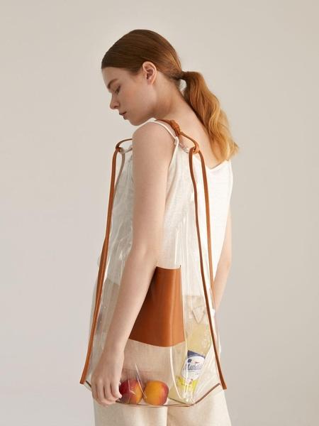 AND08 Plain Window Bag - Camel