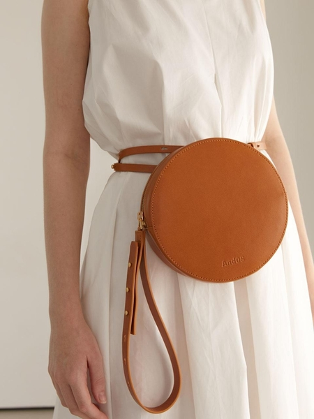 AND08 A Round Smart Bag - Camel