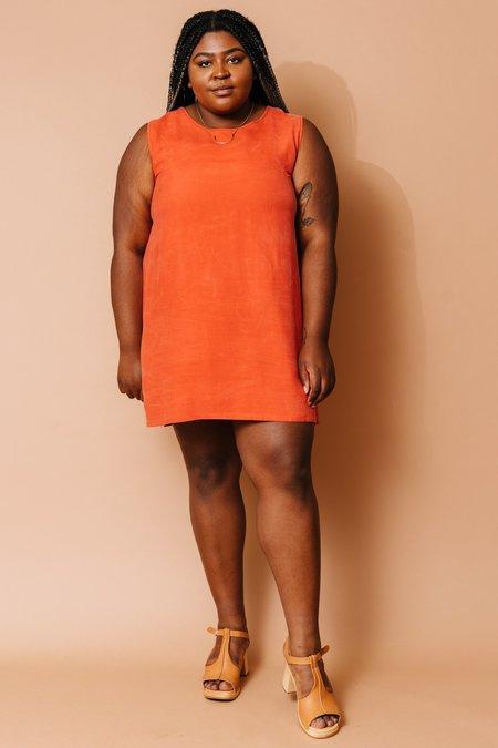 Altar Houseline Mini Shift Dress - Coral
