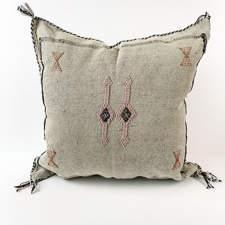 Vintage Eclectic Collective Silk Sabra pillow - Grey