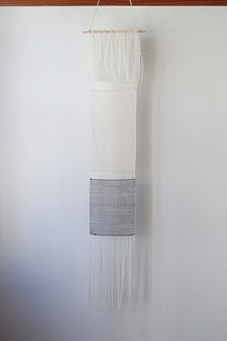 Ana Isabel Textiles HAND WOVEN WALL HANGING - IVORY/BLACK