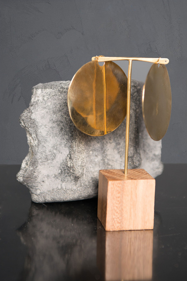 Scosha Circle Solid Brass Hoops