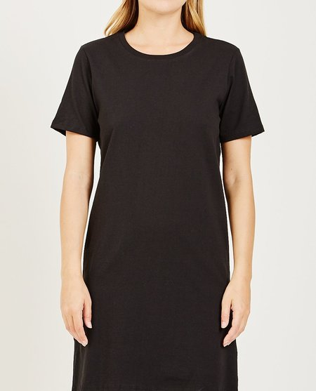 Richer Poorer TEE DRESS - BLACK