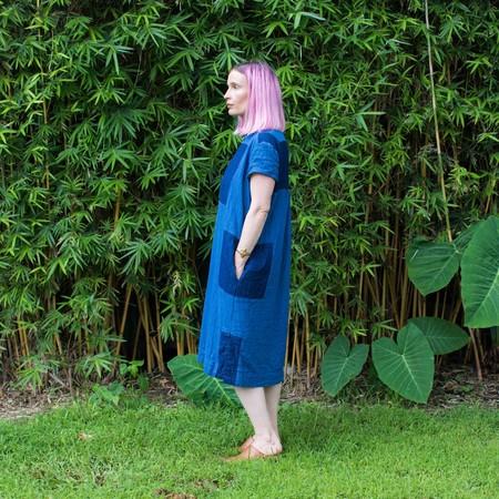 Atelier Delphine Dress - Blue Patchwork