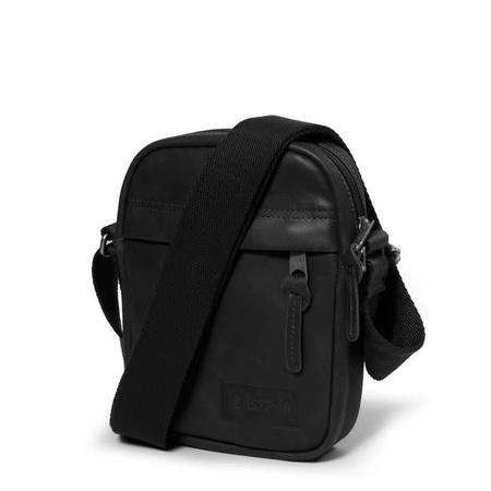 Unisex Eastpak The One Crossbody Bag - Black Leather