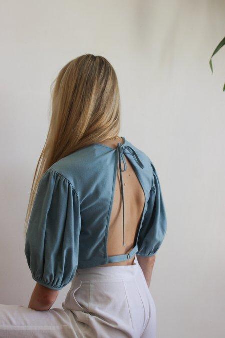 Town quince blouse - daphne blue