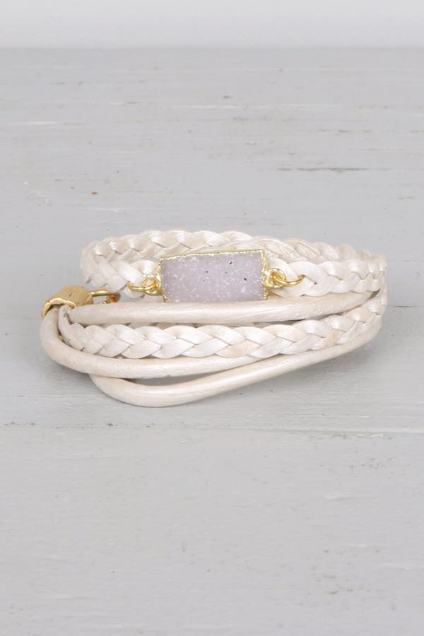 Mickey Lynn ML4106 Braided Leather Wrap Bracelet