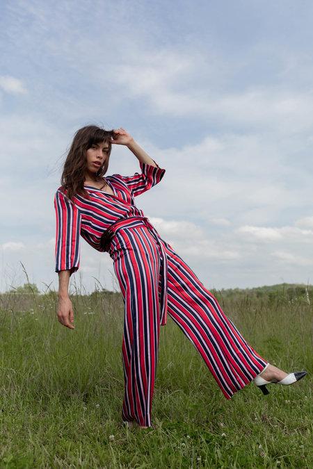 Just Female Mynte Trousers - Fiery Stripe