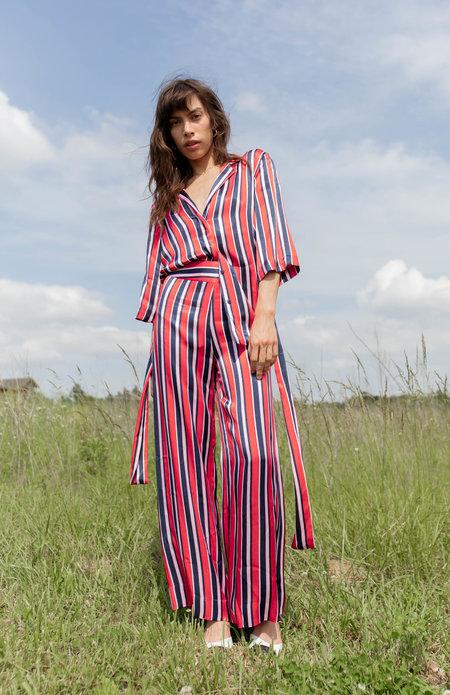 Just Female Mynte Kimono - Fiery Stripe