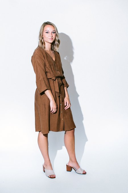 Eve Gravel les deux voix dress - cinnamon