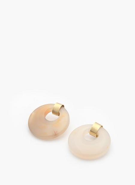 ADORN PLAC EARRINGS - BRONZE/CITRINE