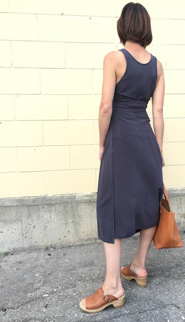 Black Crane Wrap Dress