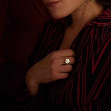 Nina Janvier The Dada Eye Signet Ring - Silve