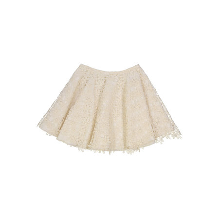 Kids Petit Mioche organic cotton lace skirt