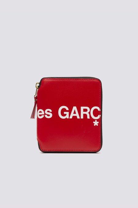 Comme des Garçons Leather Huge Logo SA2100HL Wallet - Red
