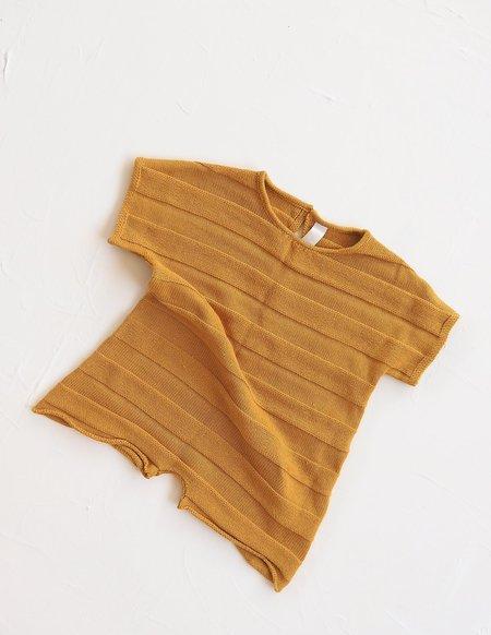 Kids Millk Knit Jumpsuit - Golden