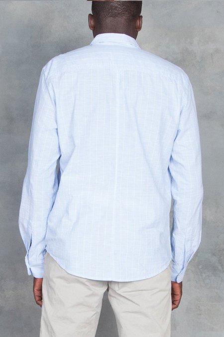 Frank and Eileen Luke Chambray Shirt - Wide Blue Stripe