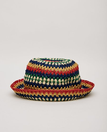 Brixton ESSEX RAFFIA BUCKET HAT - MULTI