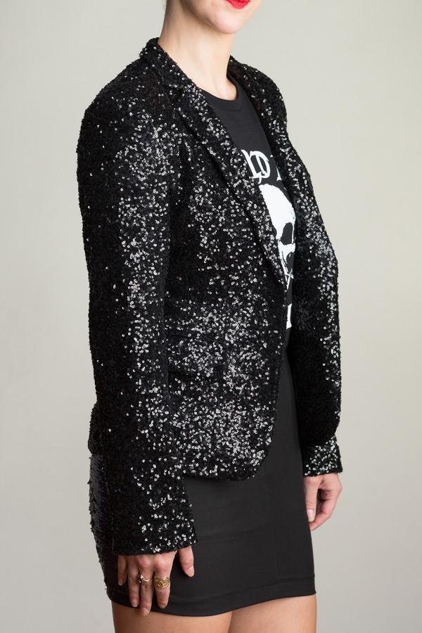 Any Old Iron Black Sequin Jacket
