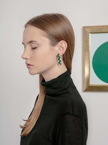 MATTER MATTERS Zs Earrings - Green