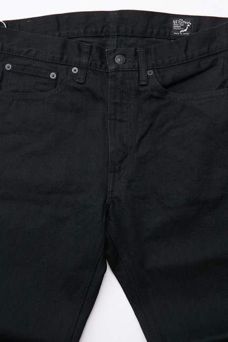 orSlow 107 Ivy Fit Slim Jean - Black