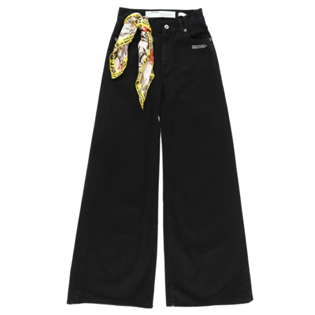 Off-White Straight Leg Denim - Vintage Black