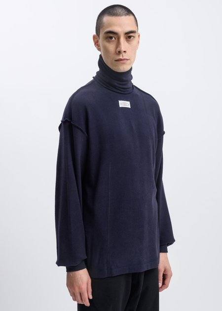 Faineant Logo Patch Turtle Neck - Navy