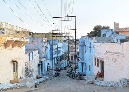 Zico O'Neill Blue street, Jodhpur, India, 2017