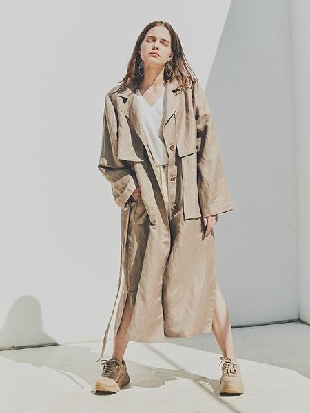 FAYRI Studio Long Trench Coat - Linen Beige