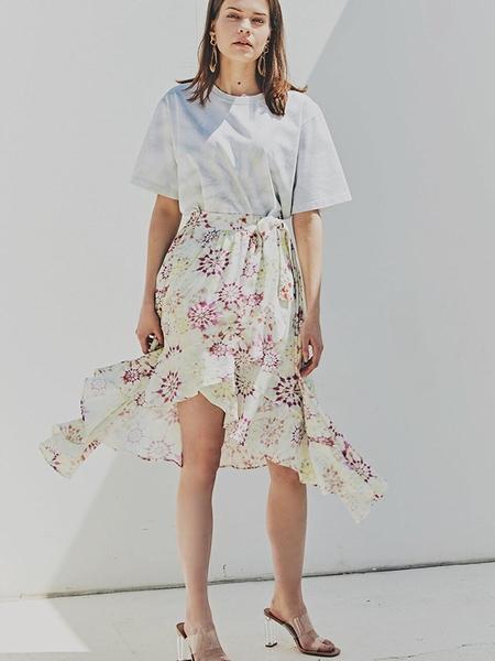 FAYRI Aeri Tie Dye Wrap Skirt - Passion Fruit