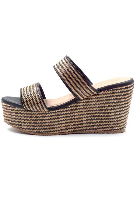 KAANAS Gibralter Wedge Shoe - Black