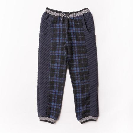 Kids Noe & Zoe Track Pants - Blue Check