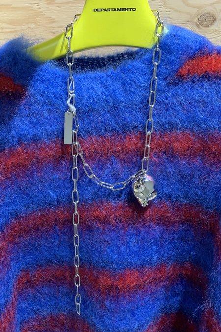 Marni Alien Chain Necklace - Silver