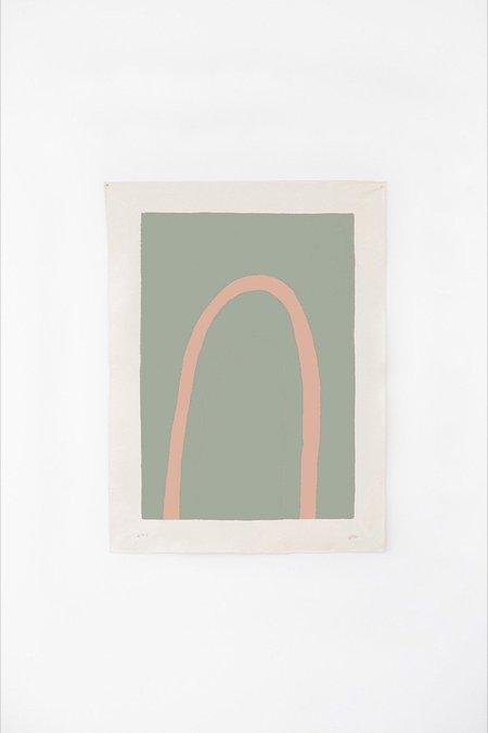 Upton Truss Canvas Print - Sage