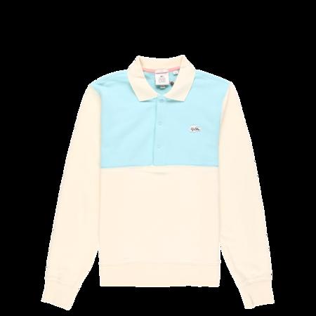 Lacoste x GOLF le FLEUR Polo Sweatshirt - Mascarpone/Plumi