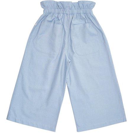 Kids bacabuche paper bag trousers - denim cotton