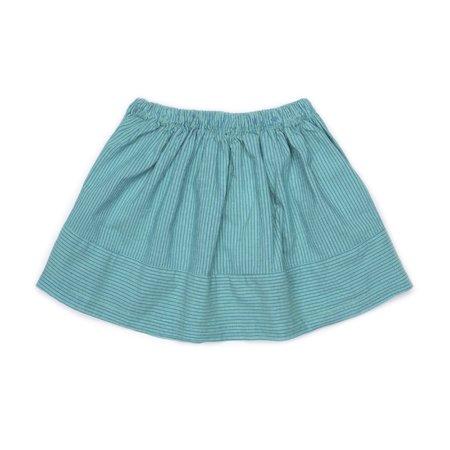 kids barn of monkeys flared woven skirt - striped gum