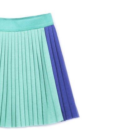 kids barn of monkeys pleated mini skirt - gum green
