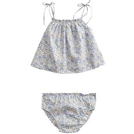 kids belle enfant baby cami + bloomers set - liberty d'anjo