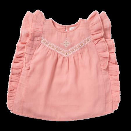 kids bonheur du jour mahe blouse - pink