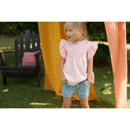 kids bonheur du jour naty blouse - pink